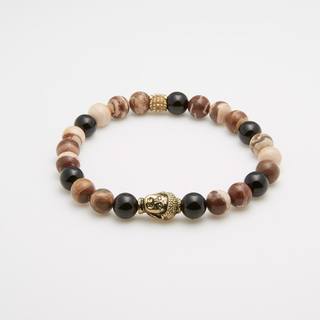 Spirit + Soul Malodonite Coffee Agate Adjustable Bracelet