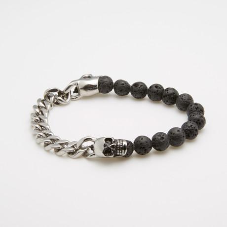 Skull Chain + Onyx Bracelet