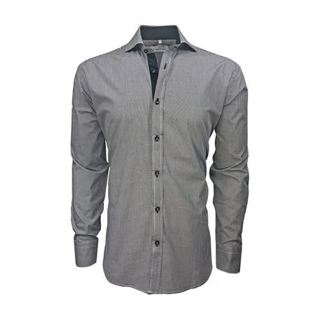 Semi Fitted Gingham Shirt // Black Gingham