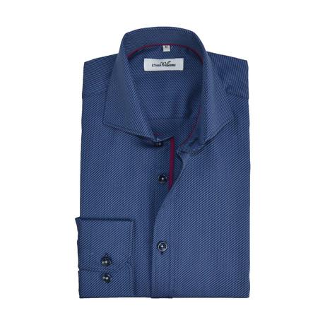 Iridescent Semi Fitted Shirt // Graphite Navy + Burgundy (S)
