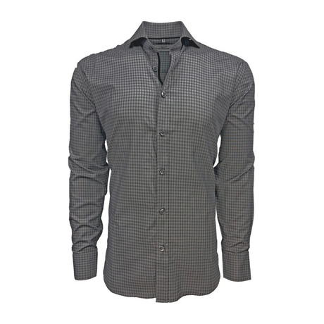 Semi Fitted Check Shirt // Grey Check (S)