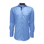 Semi Fitted Anchor Print Shirt // Light Blue Anchor (XL)