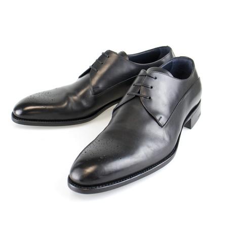 Brogue Goodyear Welt Leather Derby // Black (US: 7)