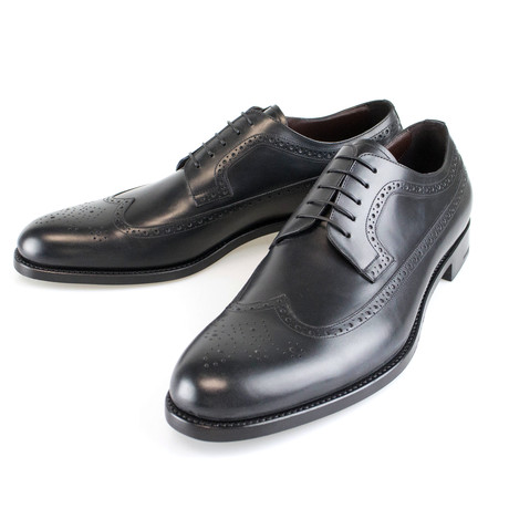 Leather Wingtip Oxford // Black (US: 7)