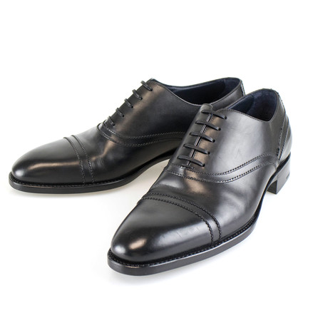 Cap Toe Good Year Welt Leather Oxford // Black (US: 7)