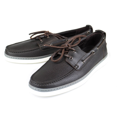 Leather Casual Boat // Brown (US: 7)