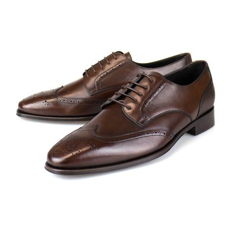 Leather Wingtip Derby // Brown (US: 7)