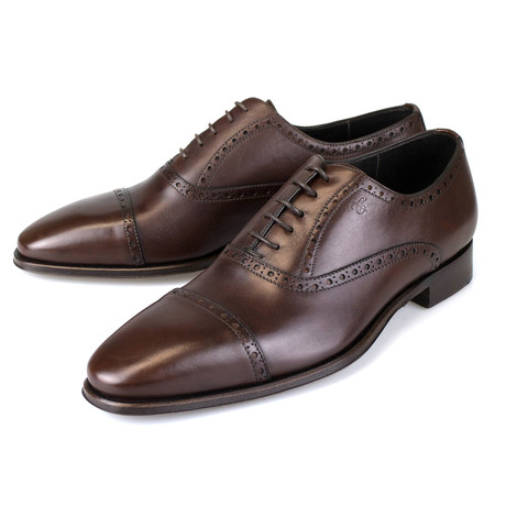 Leather Oxford Cap Toe // Brown (US: 7)