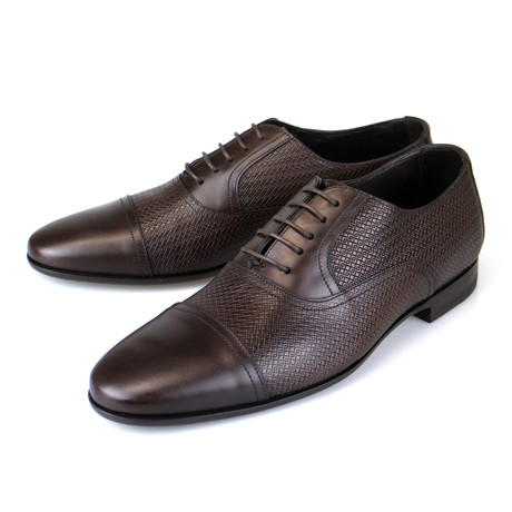 Leather Woven Oxford // Brown (US: 7)