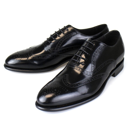 Patent Leather Wingtip Oxford // Black