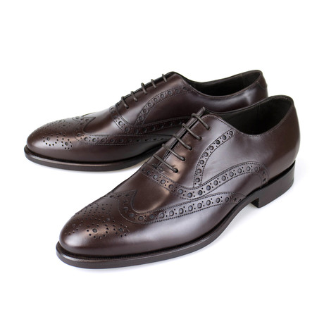 Leather Wingtip Design Oxford // Brown (US: 7)