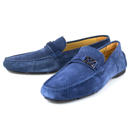 Suede Leather Driver Moccasin // Blue (US: 7)