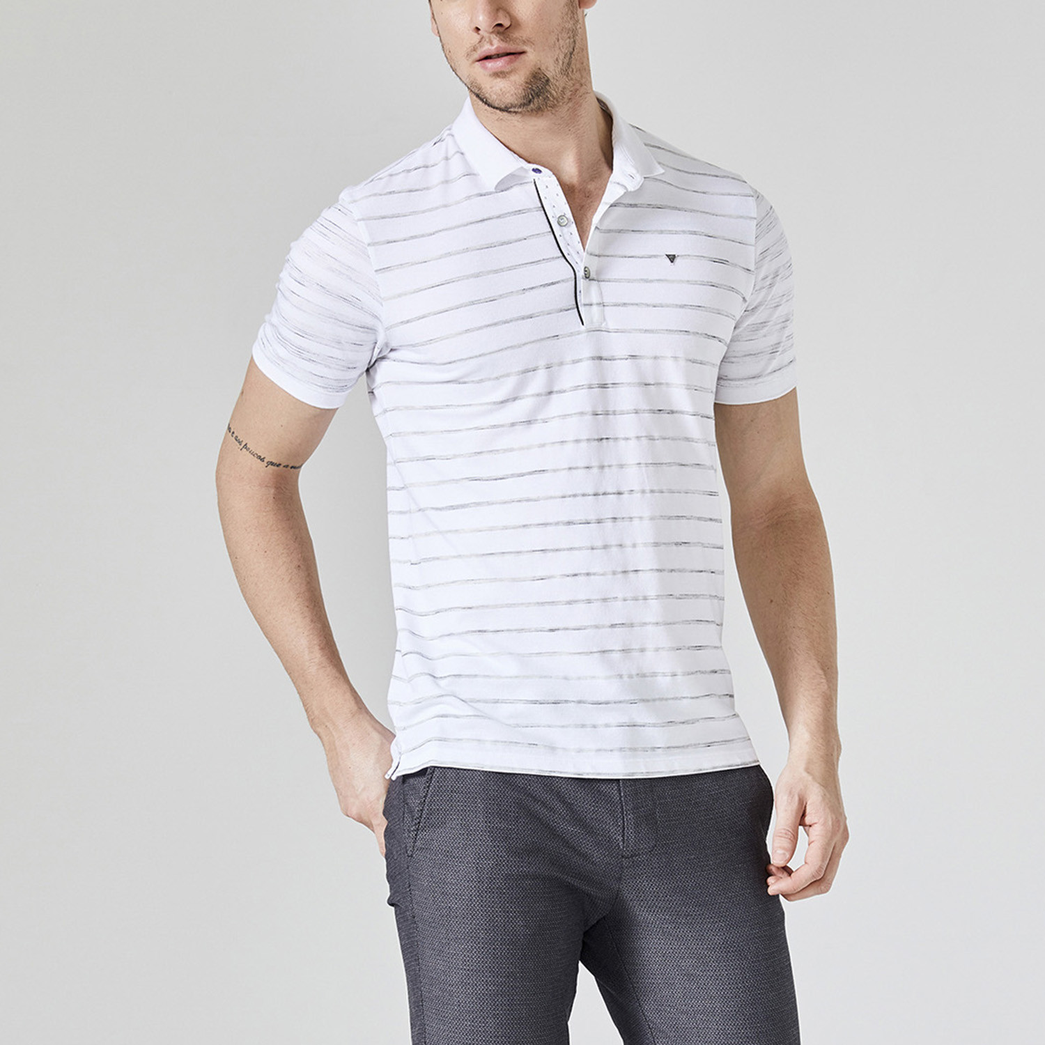 Printed Polo T Shirt White S Clearance Casual Shirts Touch