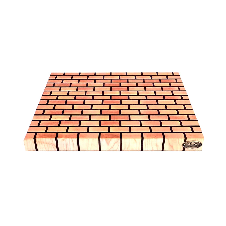 Maple Brick Pattern End Grain Cutting Board Monnier Woodcraft