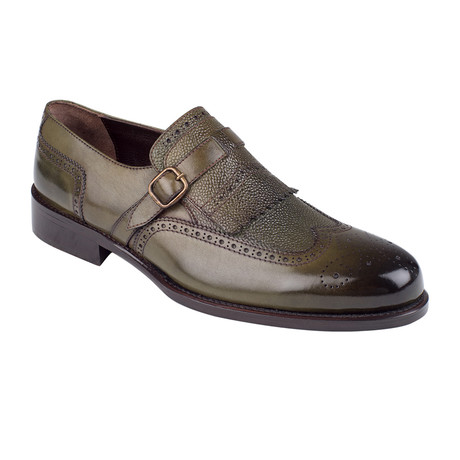 Cross Strap Loafer // Green Antique (Euro: 39)