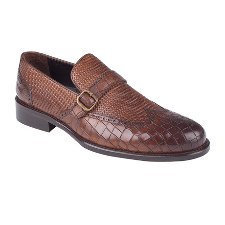 Cross Strap Loafer // Tobacco Croco (Euro: 39)