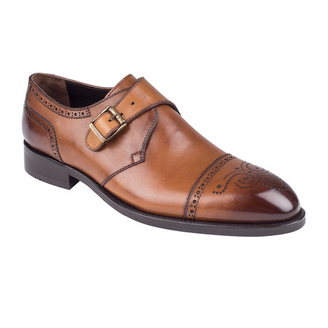Brogue Monkstrap Shoe  // Tobacco Antique (Euro: 39)