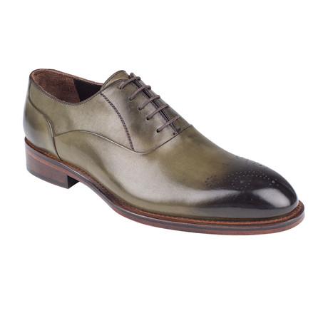 Plain Toe Oxford // Green Antique