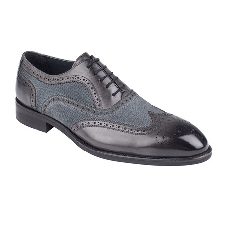 Full Brogue Oxford // Navy Antique (Euro: 39)