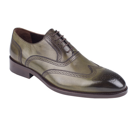 Full Brogue Oxford // Green Antique (Euro: 39)
