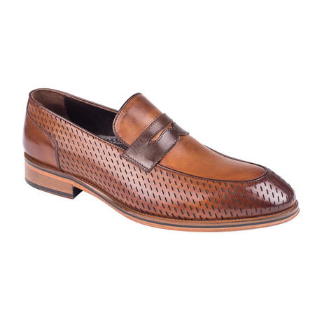Perforated Penny Loafer // Tobacco Antique (Euro: 39)