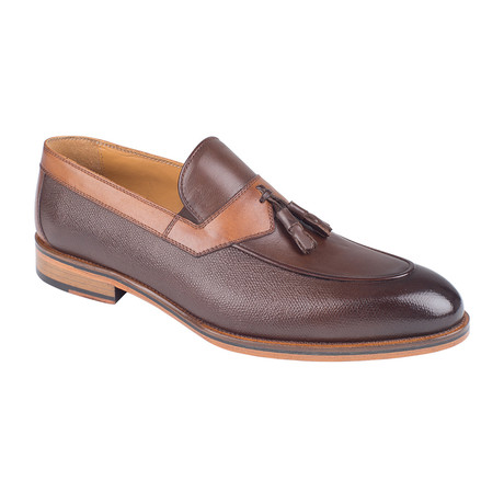 Color Block Tassel Loafer // Brown Antique (Euro: 39)