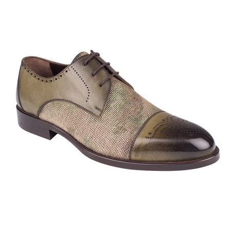 Mixed Texture Derby // Green Antique (Euro: 39)