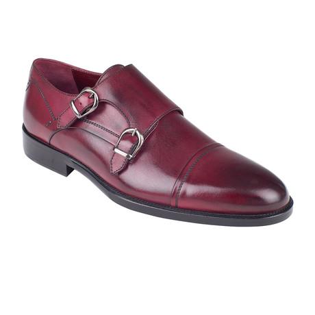 Double Monkstrap Shoe // Burgundy Antique (Euro: 39)