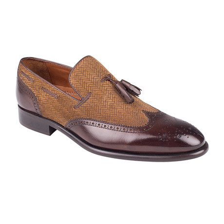 Wingtip Loafer // Brown Antique (Euro: 39)
