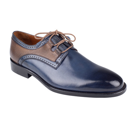 Plain Toe Color Block Derby // Navy Antique (Euro: 39)