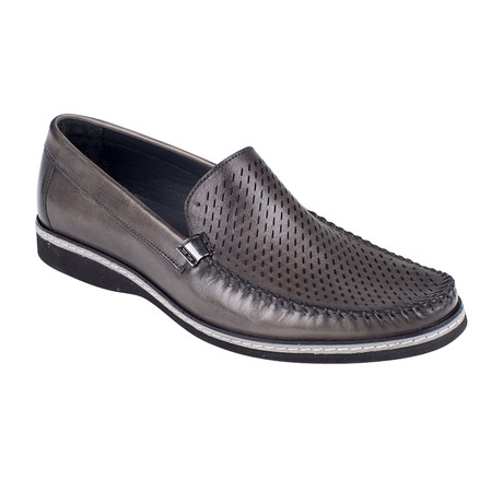 Perforated Loafer // Gray Antique (Euro: 39)