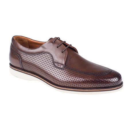 Perforated Derby Shoe // Brown Antique (Euro: 39)