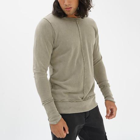 Fray Sweatshirt // Khaki (S)