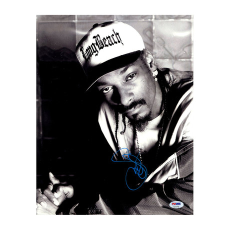 Snoop Dog Signed Long Beach Hat Photo