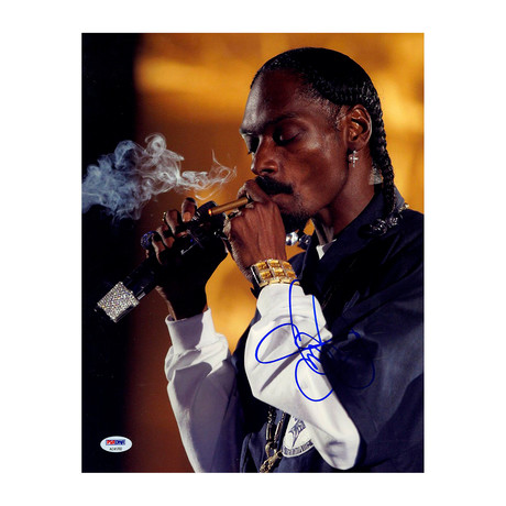 Snoop Dogg Signed Smoking Photo