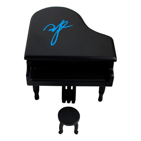 Billy Joel Signed Mini Model Piano // Signed in Blue