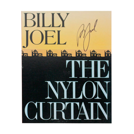 "Billy Joel Signed ""The Nylon Curtain"" Album Cover"