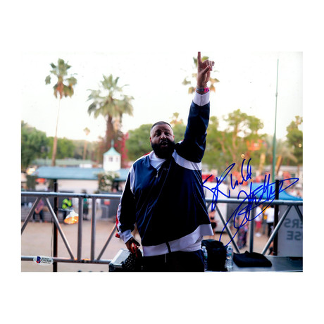 DJ Khaled Signed Blue Jacket Photo