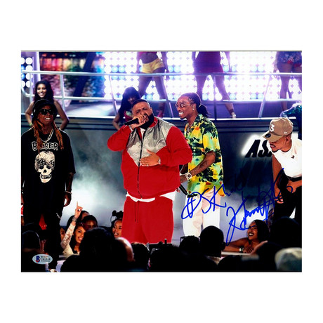 DJ Khaled Signed On Stage With Chance & Quavo Photo