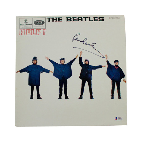 "Paul McCartney Signed The Beatles ""Help"" Record Album Cover"