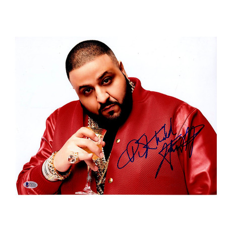 DJ Khaled Signed Red Jacket Photo