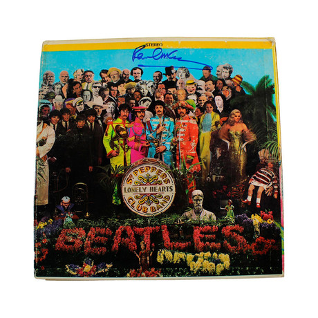 "Paul McCartney Signed The Beatles ""Sgt Peppers"" Record Album"