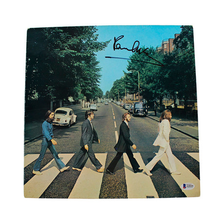 "Paul McCartney Signed The Beatles ""Abbey Road"" Record Album Cover"