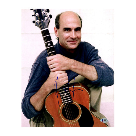 James Taylor Signed Blue Shirt Photo