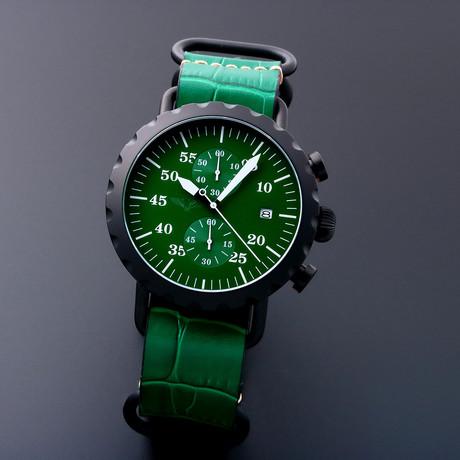 Peregrine Squadron Pilot Chronograph Quartz // Limited Edition // PSA-CH-DLC-2G // Unworn