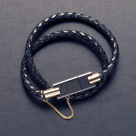Bolt 2.0 Leather Bracelet // Black