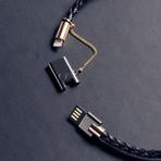 Bolt 2.0 Leather Bracelet // Black