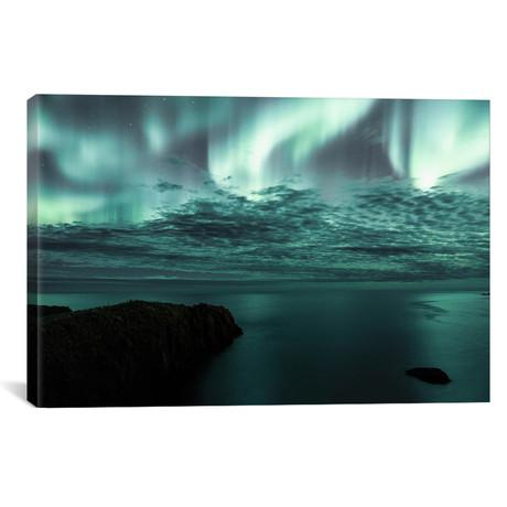 "Aurora Borealis III // Luke Anthony Gram (26""W x 18""H x 0.75""D)"