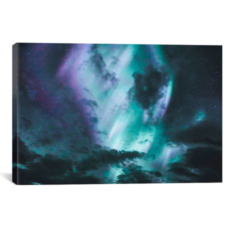 "Aurora Borealis I // Luke Anthony Gram (26""W x 18""H x 0.75""D)"