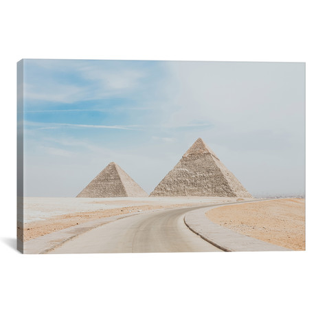 "Pyramids of Egypt // Luke Anthony Gram (18""W x 12""H x 0.75""D)"